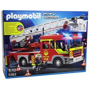 Playmobil 5362 City action - Camion de pompier avec échelle pivotante et sirène
