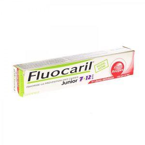 Fluocaril Junior - Dentifrice pour enfant 7-12 ans goût fruits rouges (2 x 50 ml)