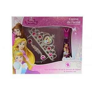 Corine de Farme Princesses Disney - Coffret eau de toilette et parure de bijoux