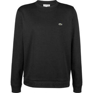 Lacoste Homme Sweat-Shirt à Logo, Noir, S