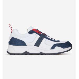 Tommy Hilfiger Baskets à empiècements - Blanc/bleu marine/rouge