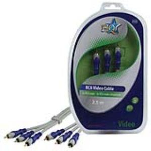 Nds HQSV-320-2.5 - Câble video component 3x RCA mâle 2.5m