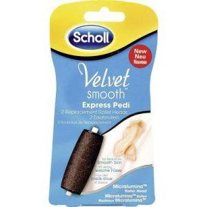 Scholl 2 rouleaux de remplacement Micralumina pour Velvet Smooth Express