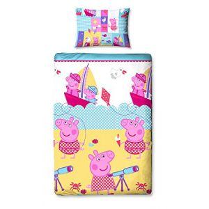 Sahinler Parure de lit Peppa Pig en vacances (135 x 200 cm)