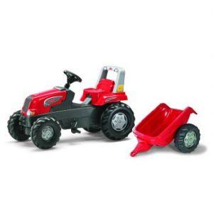 Rolly Toys Tracteur à pédales Rolly Junior avec petite remorque
