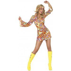 Déguisement de hippie femme (taille S, M ou L)
