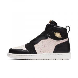 Nike Chaussure Air Jordan 1 High Zip pour Femme - Noir - Couleur Noir - Taille 40.5