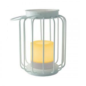 Lanterne Métallique Scintillante Blanc