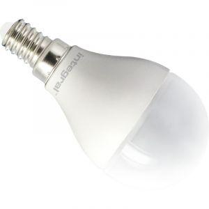 Integral LED ILP45E14O6.5D27KBEWA Ampoule LED E14 Mini Globe 6,5 W 2700 K 470 lm Dimmable Plastique/Aluminium/Nickel Brossé/Verre Blanc Chaud 8,9 x 4,5 cm