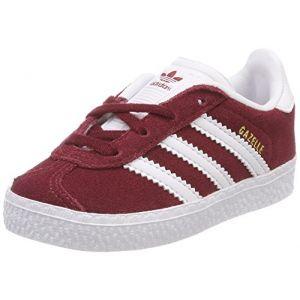 Adidas Gazelle I, Chaussons Mixte bébé, Rouge (Buruni Ftwbla 000), 19 EU