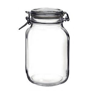 Bormioli Rocco Bocal hermétique carré 2 L en verre pour terrine - Fido