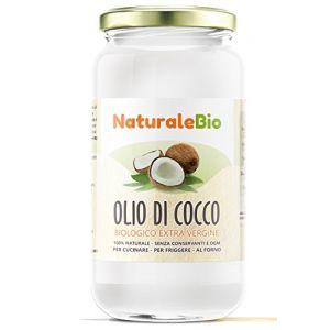 NaturaleBio Huile de Coco Extra Vierge 1000 ml - Crue et Pressée à Froid