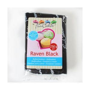 FunCakes Pâte à sucre - noir - 250g