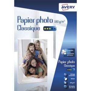 Avery-Zweckform 80 feuilles de papier photo brillant 10x15cm - Jet d'encre classique 180 g/m²