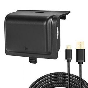 Kingtop Batterie Rechargeable Pour Manette Xbox 1200mah Batterie With Câble