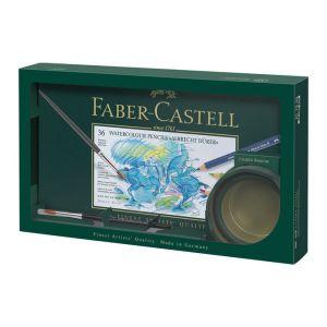 Faber-Castell Crayon aquarellable Albrecht Durer - Coffret 36 couleurs + gobelet et pinceau