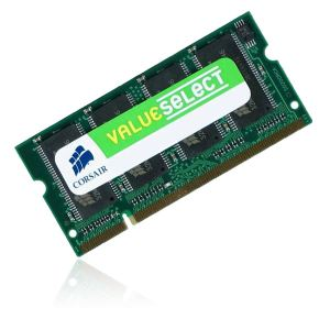 Corsair VS1GSDS400 - Barrette mémoire Value Select 1 Go DDR 400 MHz SoDimm 200 broches