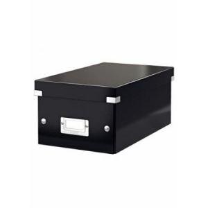 Leitz 6042-00-95 - Boîte de rangement Click & Store, format DVD, en PP, coloris noir