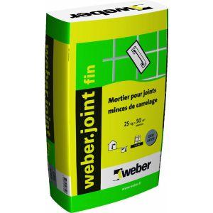 Weber Mortier pour joints de carrelage .JOINT FIN - Sac de 25 Kg - BLANC PUR