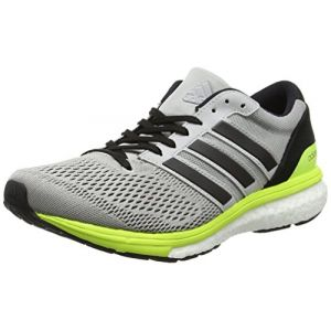 Adidas Adizero Boston 6, Chaussures de Running Entrainement Femme, Gris (Grey Two/Core Black/Solar Yellow), 38 EU