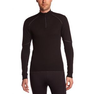 Odlo Shirt ML 1/2 zip X-WARM T-shirt manches longues homme Homme black FR: L (Taille Fabricant: L)