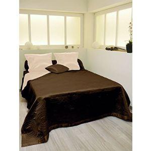 couvre lit satin comparer 103 offres. Black Bedroom Furniture Sets. Home Design Ideas