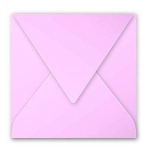 Pollen 5538C - Enveloppe 140x140, 120 g/m², coloris rose dragée, en paquet cellophané de 20