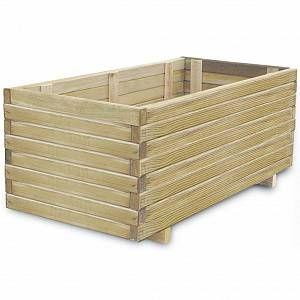 VidaXL Jardinière en bois rectangulaire 100 x 50 x 40 cm -