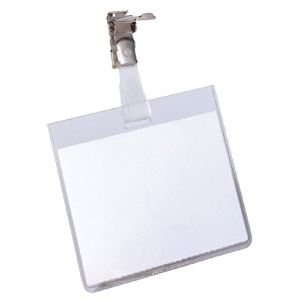 Durable 8003-19 - Badge fermé en haut avec clip