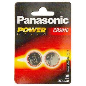 Panasonic 2 piles bouton lithium CR2016