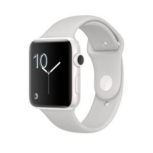 Apple Watch 38mm séries 2 - Boîtier en céramique blanc avec Bracelet Sport