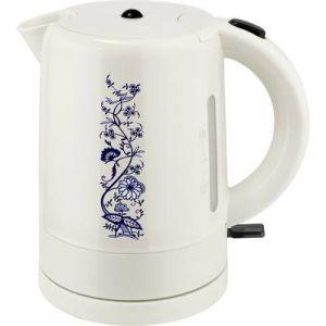 Efbe-Schott Bouilloire à motif floral traditionnel blanc/bleu