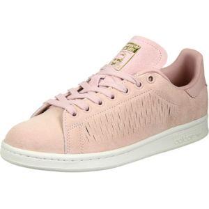Adidas Stan Smith, Sneakers Basses Femme, Rose (Haze Coral/Haze Coral/Chalk White), 40 2/3 EU