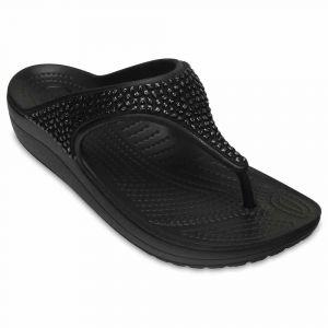 Crocs Tongs Sloane Embellished Flip - Black / Black - EU 42-43