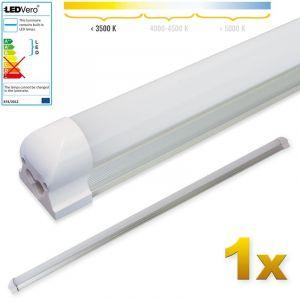 Ledvero 1x SMD réglettes lumineuses LED en blanc chaud T8 G13 tube couvercle laiteux - 150 cm 25 W, 2500lumen- prêt pour l'installation