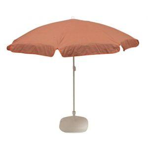 EZPELETA Parasol inclinable Bora - Ø 180 cm - Rayé orange et gris Socle non inclus