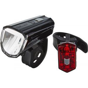 XLC Comp Alderaan - Kit éclairage vélo - rouge/noir Sets de lampes