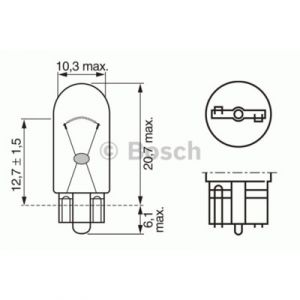 Bosch Lampes 1987302241 LPE WY5W PURE LIGHT 12V x10