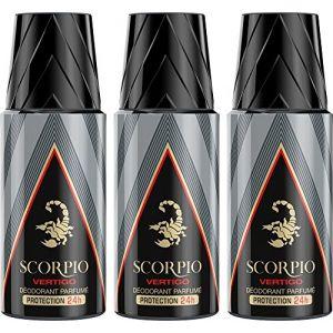 Scorpio Déodorant pour Homme - Vertigo - Atomiseur 150 ml