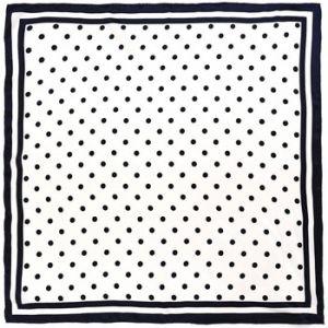 Allée du foulard Carré de soie Premium Pesols Blanc