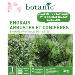 Botanic Engrais arbustes et conifères 3kg