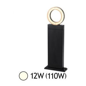 Vision-El Potelet diffuseur rond LED 12W (110W) IP54 Blanc jour 4000°K Anthracite