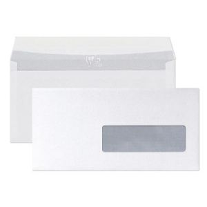 Clairefontaine 250 enveloppes 11 x 22 cm avec fenêtre 4,5 x 10 cm