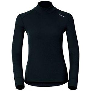 Odlo Originals Warm T-Shirt chaud col droit manches longues femme Noir Taille Fabricant : XL