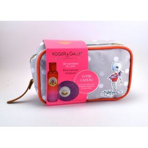 Roger & Gallet Trousse Week End Gingembre Rouge : Eau fraîche parfumée et savons