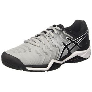 Asics Gel-Resolution 7, Chaussures de Tennis Homme, Multicolore (Mid Greyblackwhite), 43.5 EU