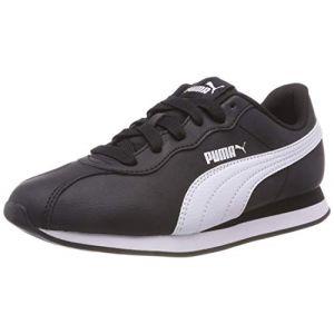 Puma Turin II Jr, Sneakers Basses Mixte Enfant, Noir Black White 01, 38 EU
