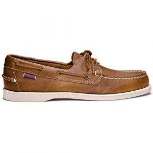 Sebago Docksides, Chaussures Bateau Homme,Marron (Brown /White ),43 EU