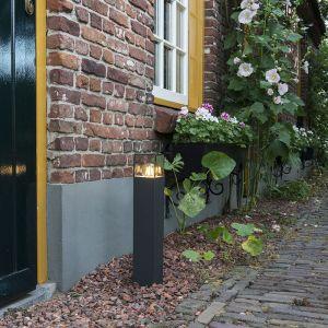 Qazqa Lampadaire extérieure moderne P50 graphite - Denmark