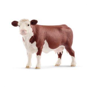 Schleich Figurine vache hereford 14,3 cm x 4,5 cm x 8,5 cm